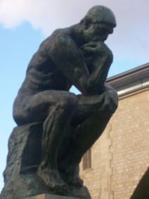 The Thinker needs food for thought - here it is