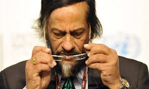 The chairman of the Intergovernmental Panel on Climate Change (IPCC), Rajendra Pachauri. Photograph: Attila Kisbenedek/AFP/Getty Images