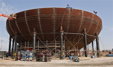 Bottom of containment vessel for new Vogtle plant