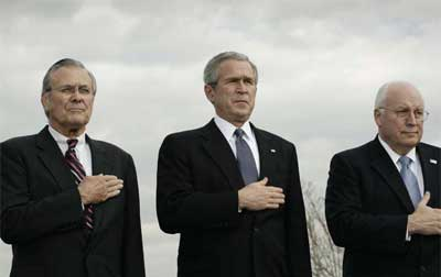 Donald Rumsfeld, George Bush, and Dick Cheney - tell me again how were they chosen?