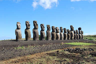 Without trees for boats for fishing, the Easter Islanders starved. Their statues however remain.