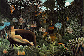 Rousseau's well-known vision of a close bond of humans with the natural world