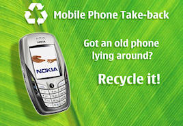 Nokia has improved its recycling program for cell phones and other Nokia electronics