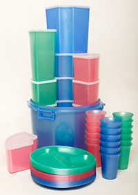 Plastics gradually give off components of their manufacture, into the environment
