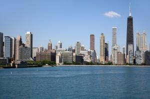 Chicago view from Lake Michigan