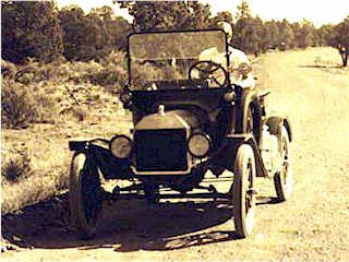 Model T car, comfortable on unpaved roads